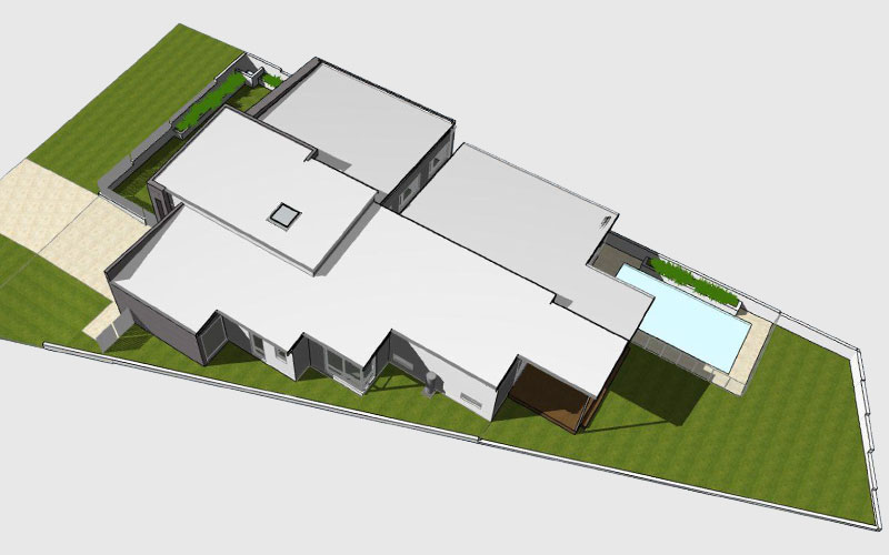 Sloping Block House Design 3D Site Render